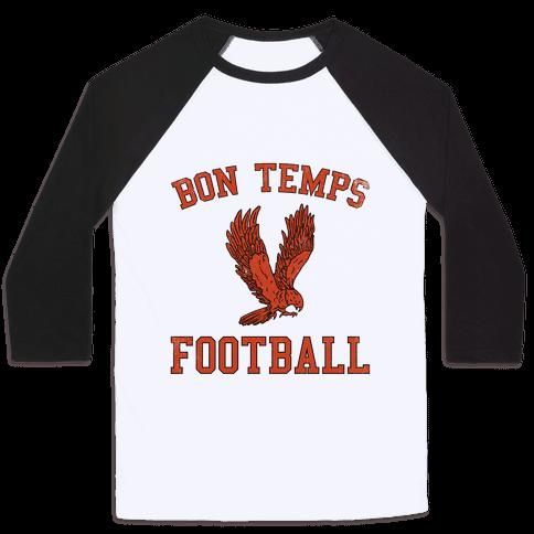 Bon Temps Football Baseball Tee