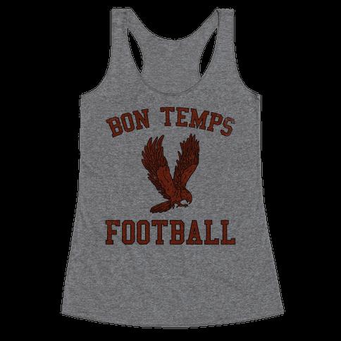 Bon Temps Football Racerback Tank Top
