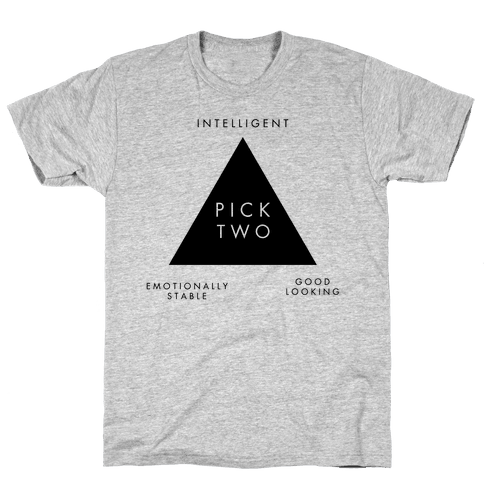 Pick Two: Intelligent, Emotionally Stable, Good Looking Mens T-Shirt