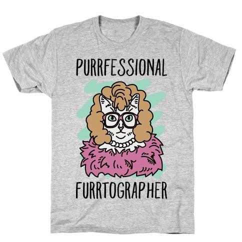 Purrfessional Furrtographer T-Shirt