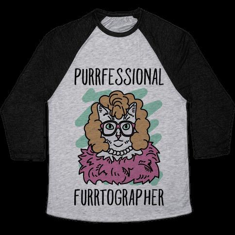 Purrfessional Furrtographer Baseball Tee