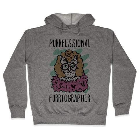Purrfessional Furrtographer Hooded Sweatshirt