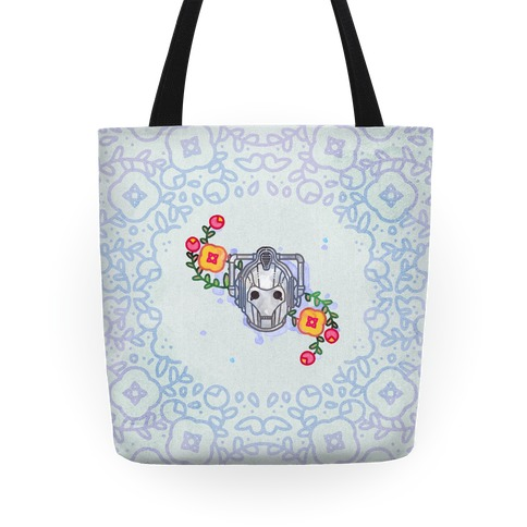 Watercolor Doctor Who Icon (Cyberman) tote Tote