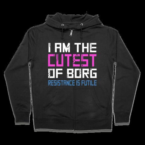 Star Trek Cutest of Borg Zip Hoodie