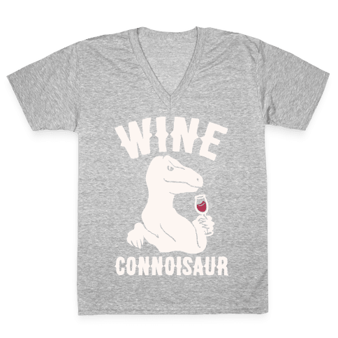 Wine Connoisaur V-Neck Tee Shirt