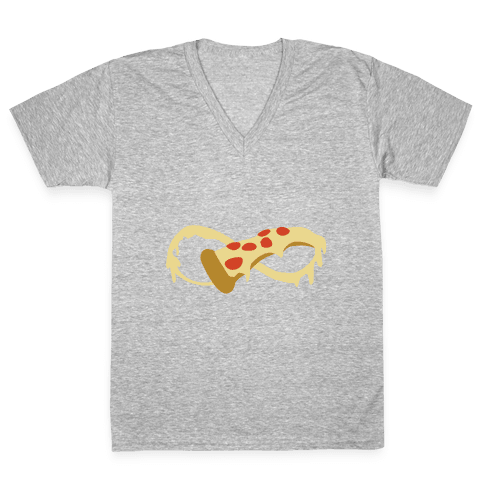To Pizza and Beyond V-Neck Tee Shirt