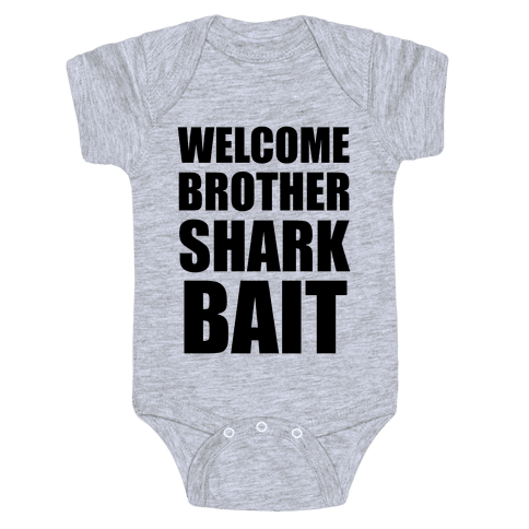 Welcome Brother Sharkbait Baby Onesy