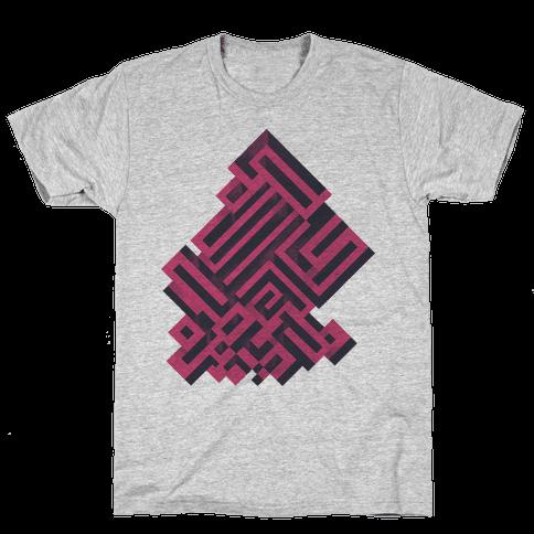 Bismuth Maze Mens T-Shirt