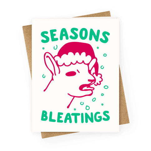 Cute funny christmas cards greeting cards lookhuman seasons bleatings greeting card m4hsunfo