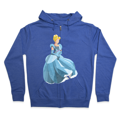 Princess With a Glass Slipper Zip Hoodie