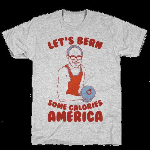 Let's Bern Some Calories America Mens T-Shirt