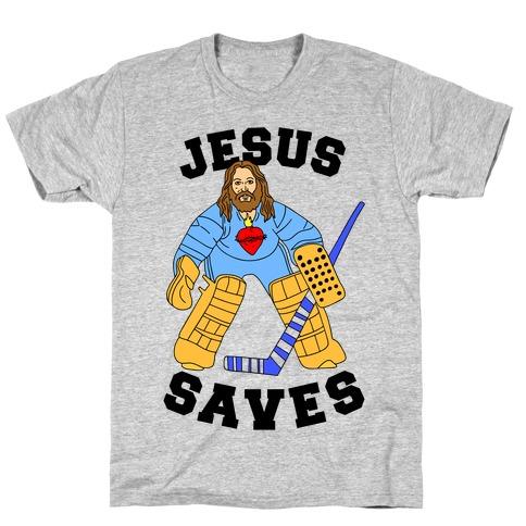 Jesus Saves (Hockey Edition) T-Shirt