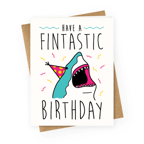 Birthdays greeting cards lookhuman have a fintastic birthday greeting card bookmarktalkfo Image collections