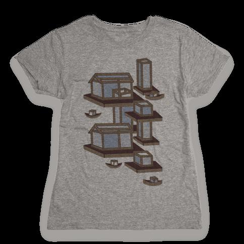 Floating Lantern City Womens T-Shirt