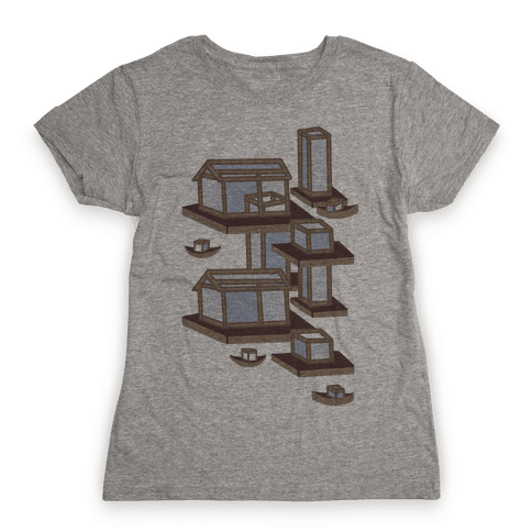 Floating Lantern City Womens T-Shirt