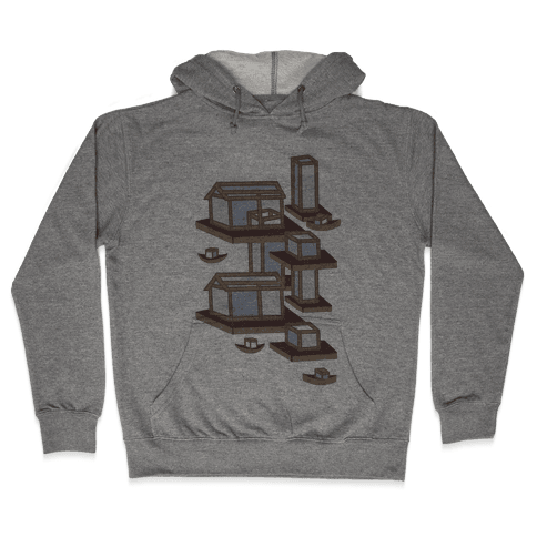 Floating Lantern City Hooded Sweatshirt