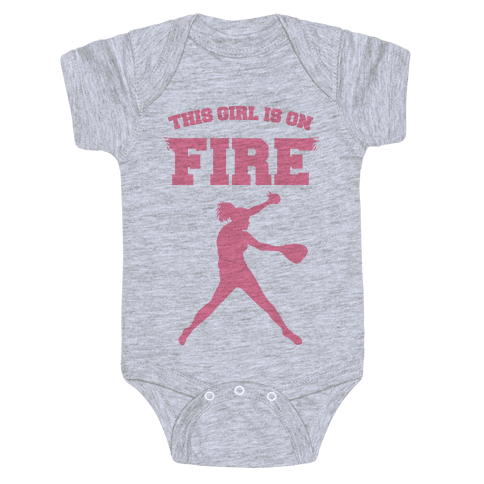 This Girl Is On Fire Baby Onesy