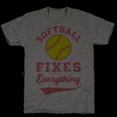 Softball Fixes Everything Mens T-Shirt