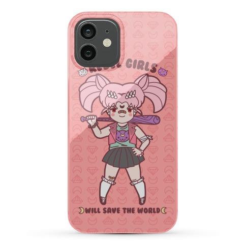 Rebel Girls Will Save The World Mini Moon Parody Phone Case
