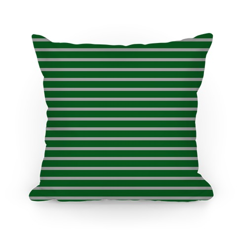 Slytherin House Stripe Pattern Pillow
