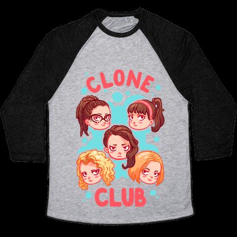 Clone Club Cuties Parody Baseball Tee