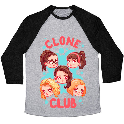 Clone Club Cuties Parody Baseball Tee