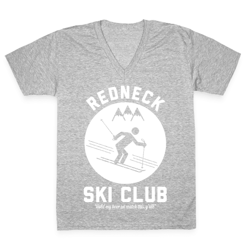 Redneck Ski Club V-Neck Tee Shirt