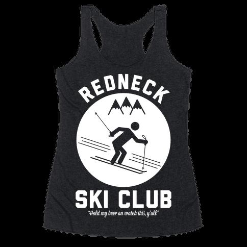 Redneck Ski Club Racerback Tank Top