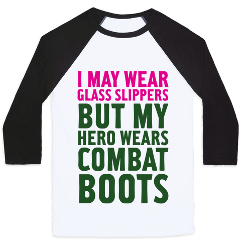 Glass Slippers & Combat Boots Baseball Tee