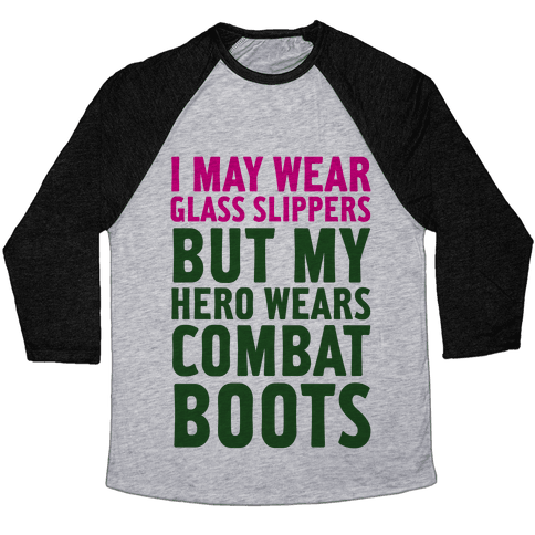 Glass Slippers & Combat Boots Baseball Tee