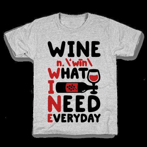 Wine Definition Kids T-Shirt