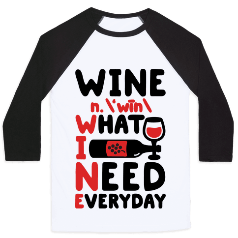 Wine Definition Baseball Tee