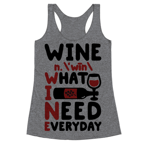Wine Definition Racerback Tank Top