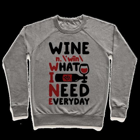 Wine Definition Pullover