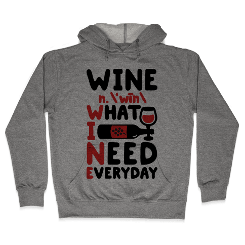 Wine Definition Hooded Sweatshirt