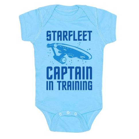 Starfleet Captain In Training Baby Onesy
