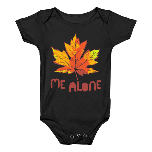 Leaf Me Alone Baby Onesy
