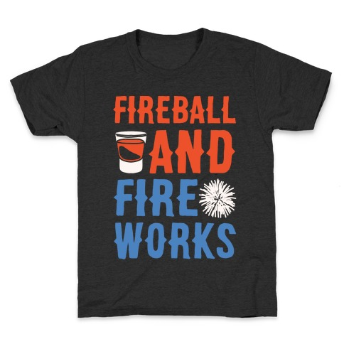 Fireball and Fire Works Kids T-Shirt