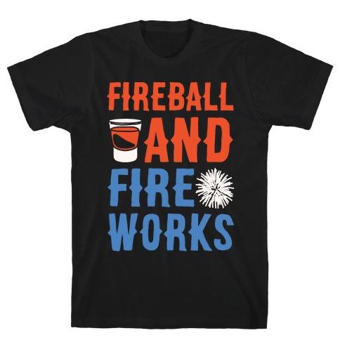 Fireball and Fire Works T-Shirt
