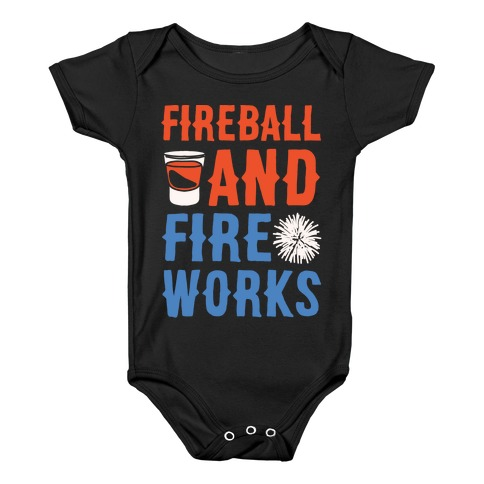49a8ee6b4 Fireball Whiskey Baby Onesies | LookHUMAN
