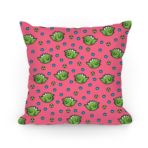 Fat Kaiju Pattern Pillow Pillow