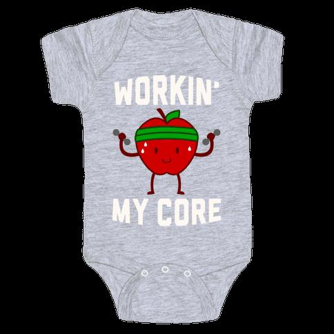 Workin' My Core Baby Onesy