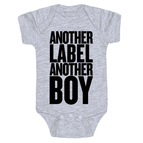 Another Label, Another Boy Baby Onesy
