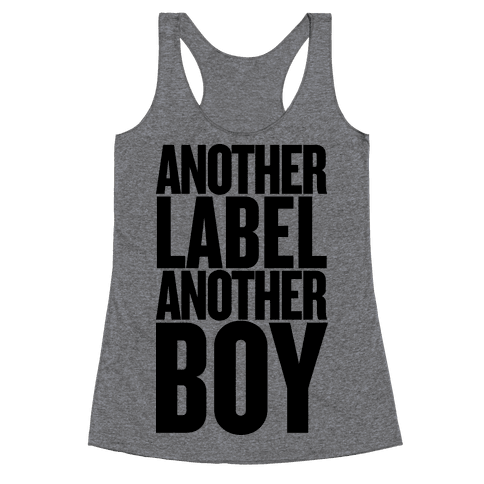 Another Label, Another Boy Racerback Tank Top