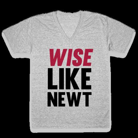 Wise Like Newt V-Neck Tee Shirt
