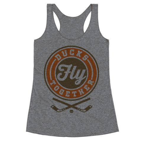 Ducks Fly Together Racerback Tank Top