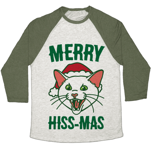Merry Hiss-mas Baseball Tee
