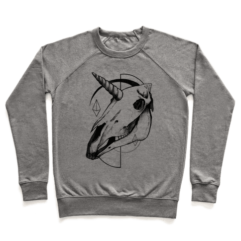 Geometric Occult Unicorn Skull Pullover