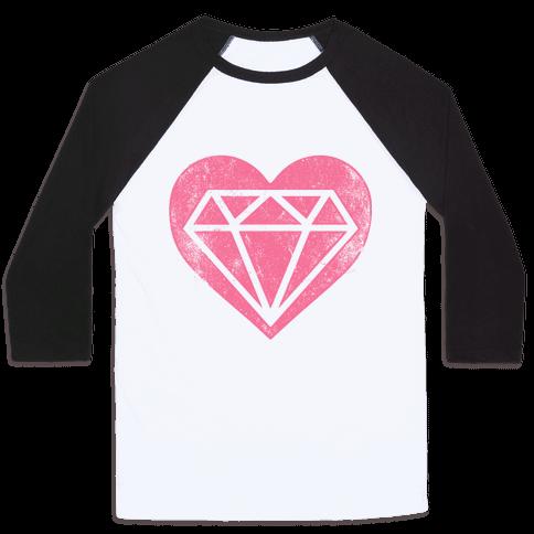 Diamond Heart (Forever) Baseball Tee