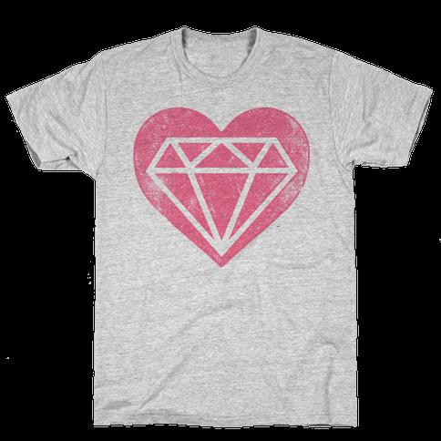 Diamond Heart (Forever) Mens T-Shirt